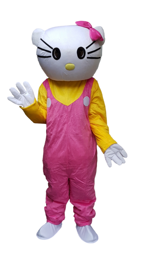 Hello kitty catty lookalike mascot adult size for HIRE