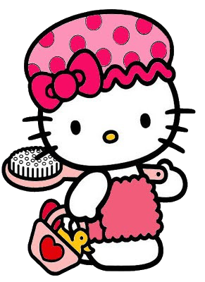 HK BATH TIME  Hello kitty colouring pages Hello kitty