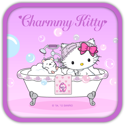 Charmmy Kitty Take Bath Theme Android reviews at Android