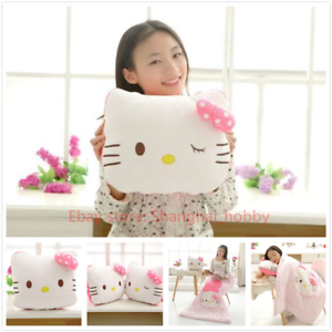 Brand New 2in1 Pink Hello Kitty Pillow N Quilt Combination
