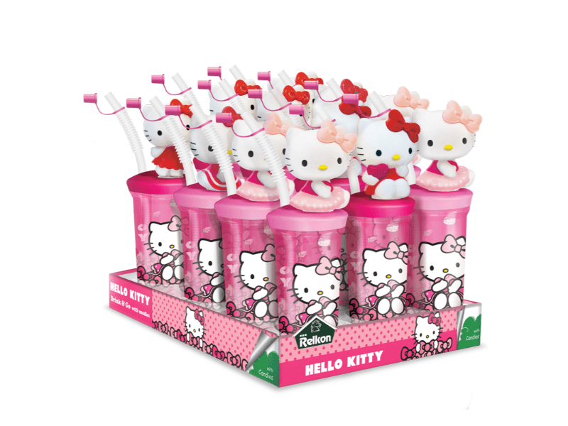 Hello Kitty Drink bottle With Candies Box of 12