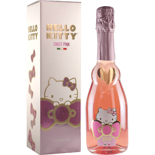 Hello Kitty Sweet Pink With Gift Box  Hello Kitty Wines