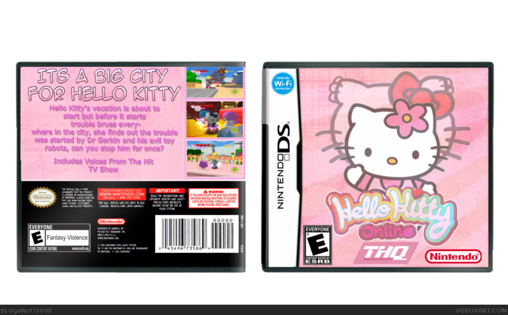 Viewing full size Hello Kitty Online box cover