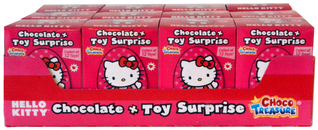 Hello Kitty Milk Chocolate Eggs with Toy Surprise Pack of