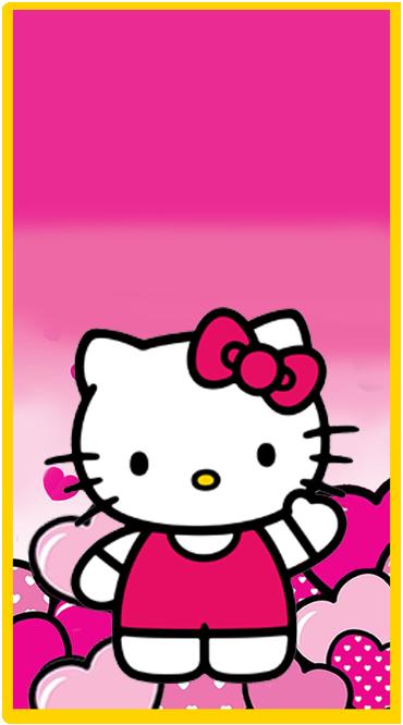 Kit imprimible candy bar Kitty para cumpleaños  Kit