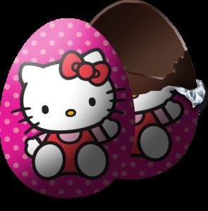 Hello Kitty Chocolate Kinder Eggs  Choco Treasure
