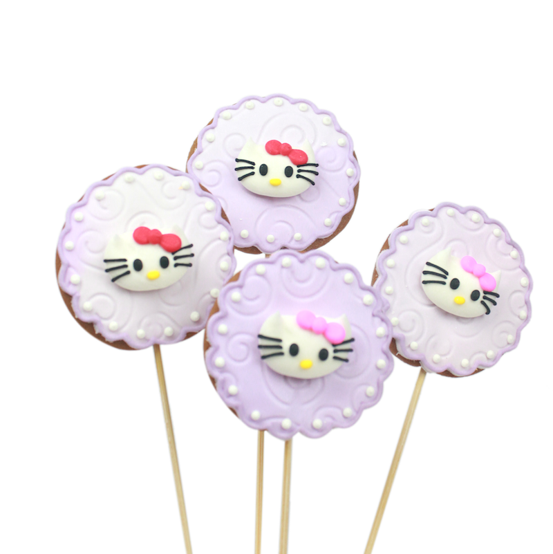 Hello Kitty Lace Cookie Pops perfect for childrens