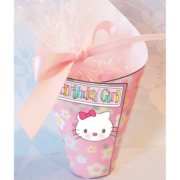 Hello Kitty Favors CandyCones  Parties and Patterns