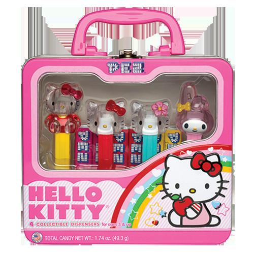 PEZ Hello Kitty Candy Dispenser Lunchbox Gift Set  Hello