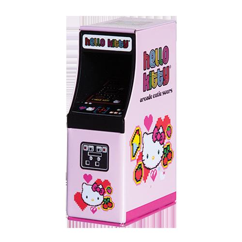 Hello Kitty Arcade Cutie Sours Candy  6oz Tin  Hello