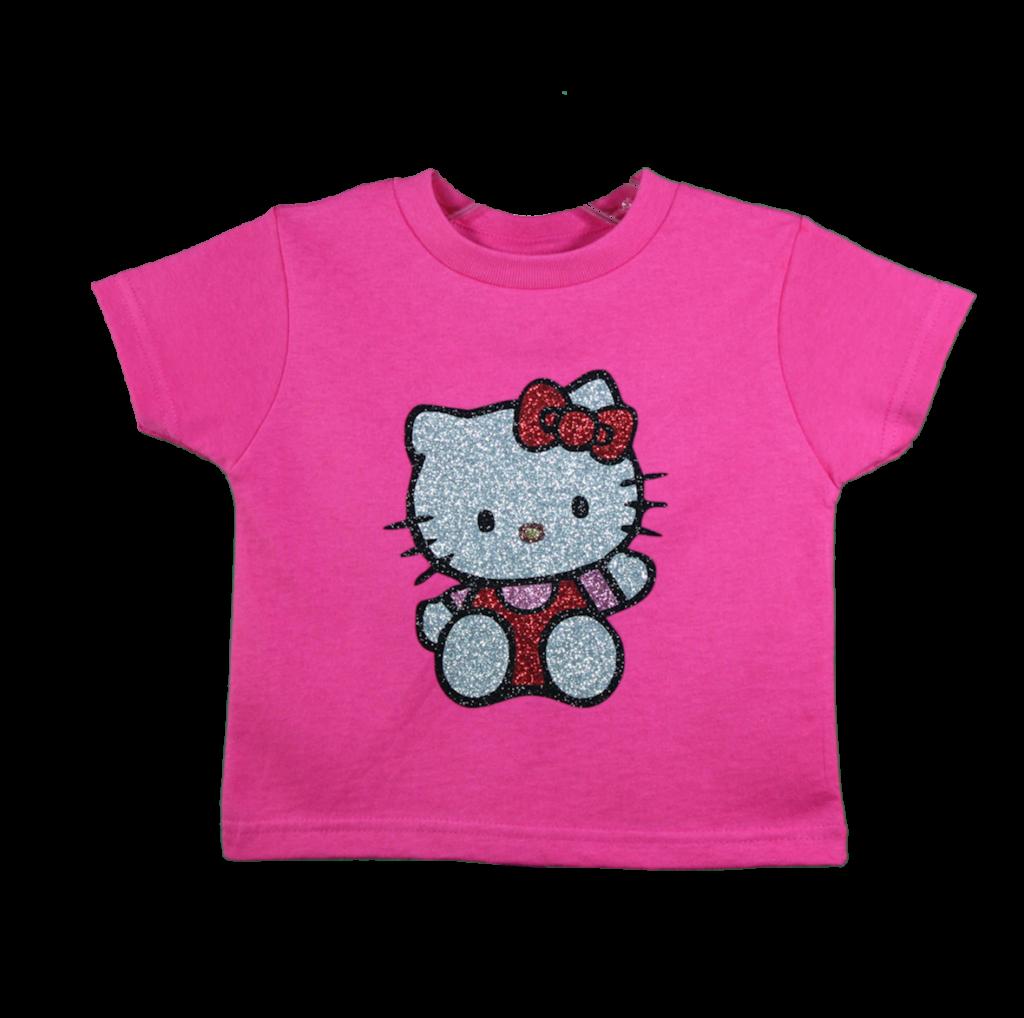 Sparkling vinyl glitter Hello Kitty tshirt Made on