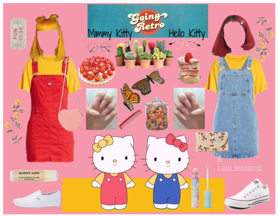 Hello and Mimmy Kitty Costume Outfit  ShopLook