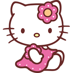 Hello Kitty Emoticons for Facebook Timeline Chat Email