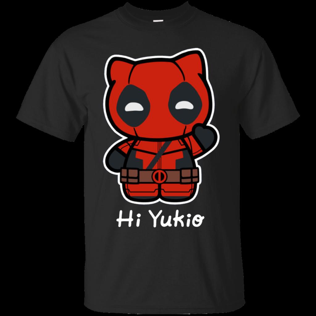 Deadpool Hello Kitty Funny Shirts Hi Yukio Shirt  Teebubbles