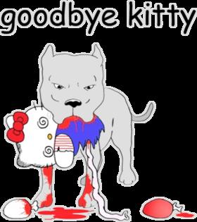 Goodbye Kitty Funny Hello Anime Cartoons T Shirt