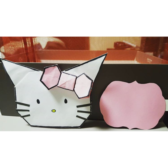 Handmade Hello Kitty Envelope with Note Card With images