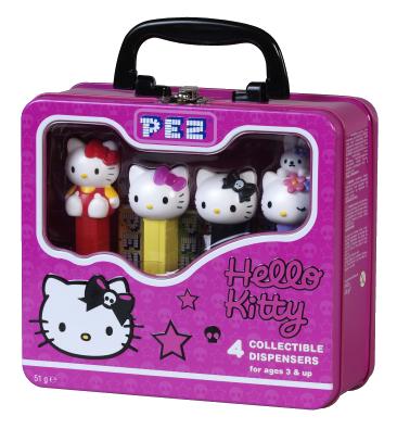 Hello Kitty Collectible Tin Skull Set  Peces