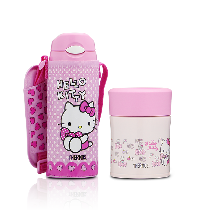 Hello Kitty Ice Cold Bottle  Food Jar Gift Set  Thermos