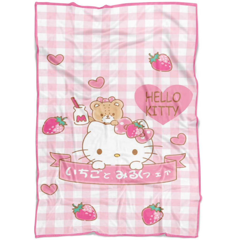 Hello Kitty Fleece Blanket Lightweight Supremely Soft Gift