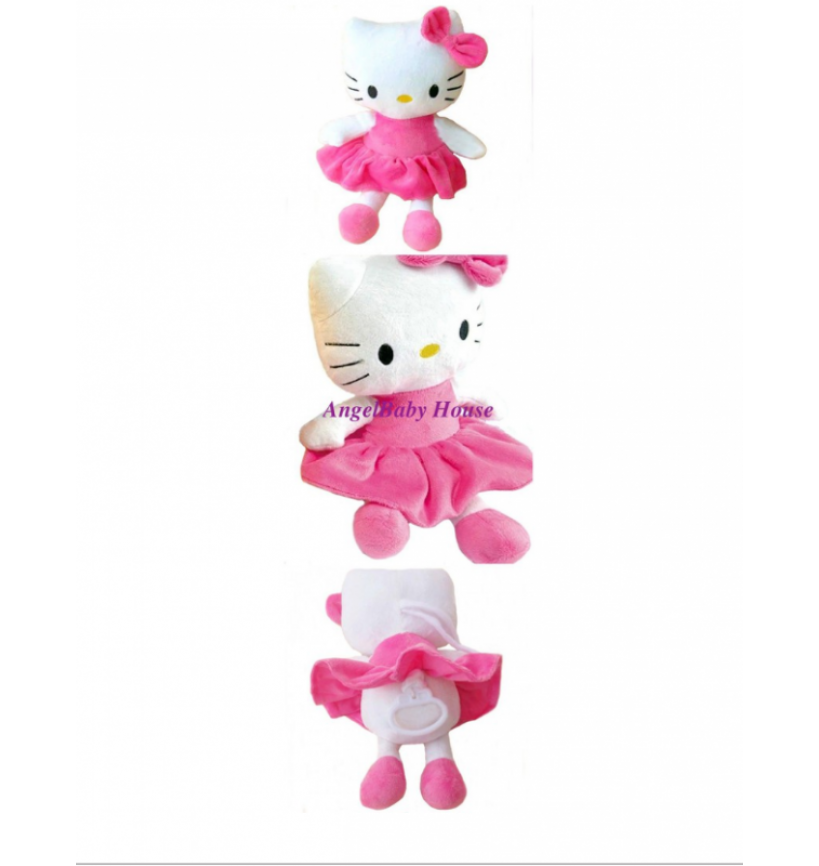 Baby Hello Kitty musical plush pull soft toy sleeping doll