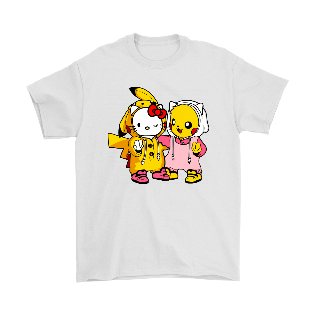 Hello Kitty And Pikachu Cute Costumes Exchange Shirts ... - Hello Kitty Items