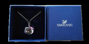 Necklace Hello kitty x Swarovski kitty Face Crystal Pink