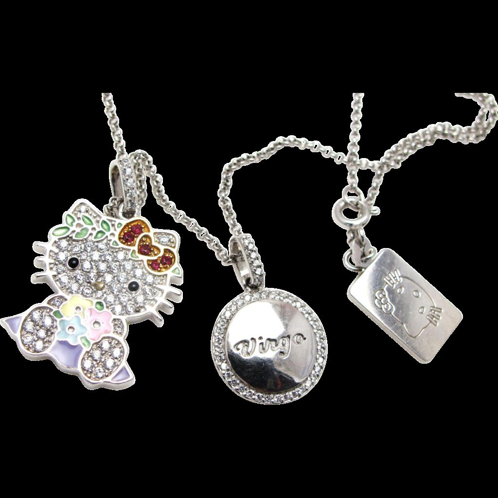 Hello Kitty Zodiac Sterling Silver Cubic Zirconia and