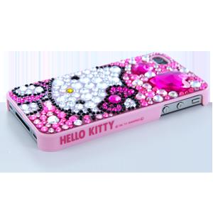 iPhone 44S Case  Hello Kitty Rhinestone Pink  Hello
