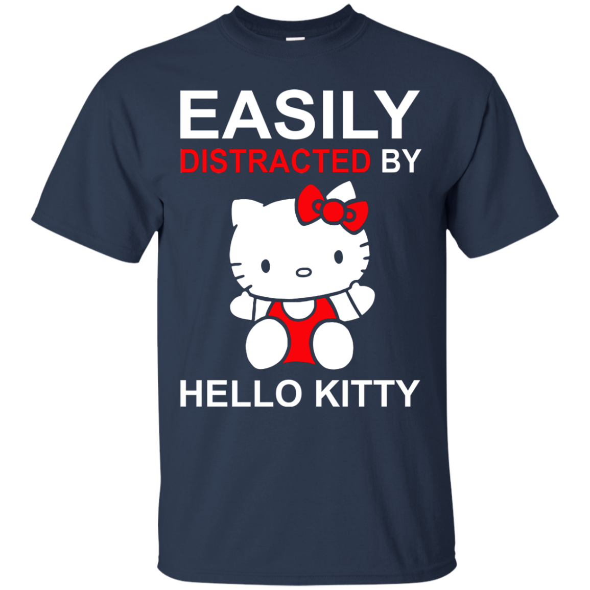 Hello Kitty T shirts Easily Distracted By Hoodies ... - Hello Kitty Merchandise