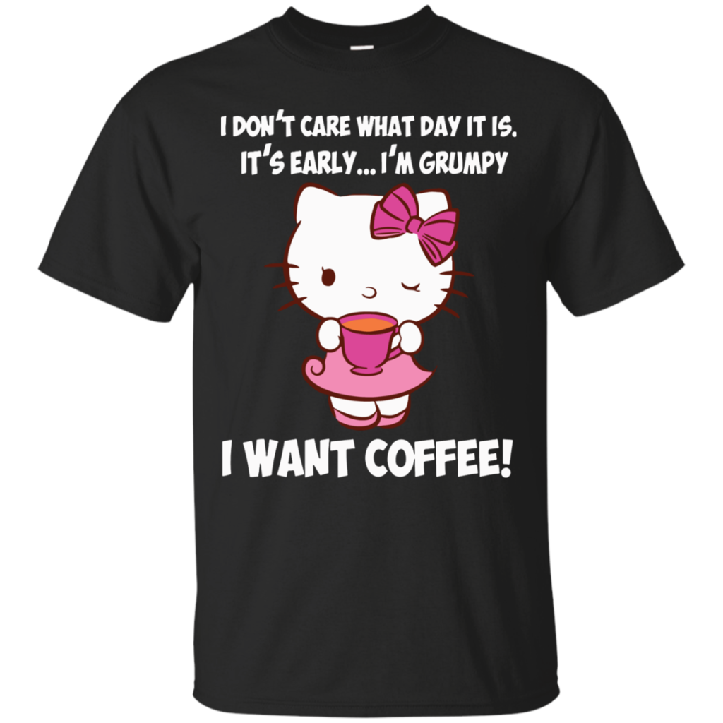 Hello Kitty T shirts I Want Coffee Hoodies Sweatshirts Có