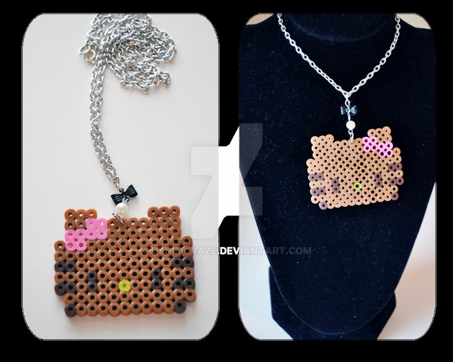 Chocolate Hello Kitty Necklace by denimcraze on DeviantArt