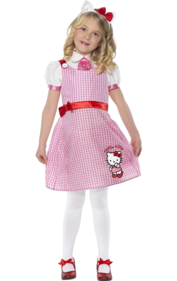 Child Hello Kitty Costume school Girl  Jokers