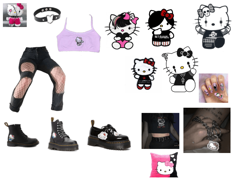 emo hello kitty Outfit  ShopLook