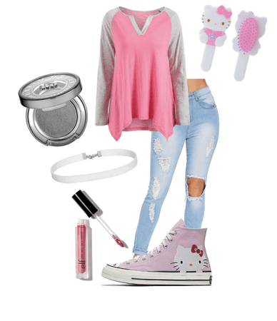 pink soft girl hello kitty aesthetic Outfit  ShopLook
