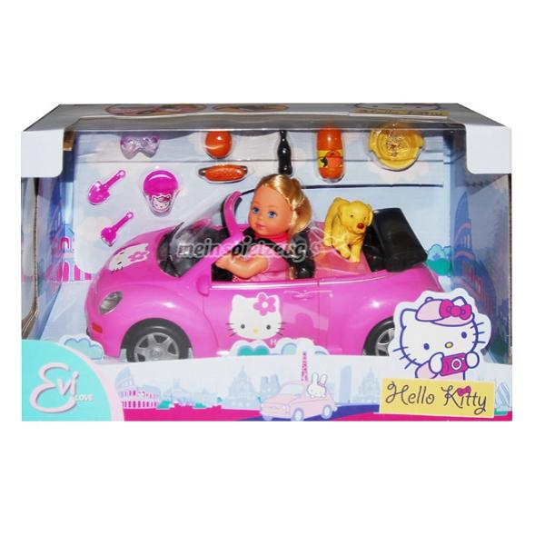 Детска мини кукла с автомобил Hello Kitty  Toy chest