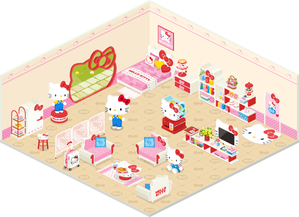 JapaneseVW Hello Kitty came in to LINEs virtual world