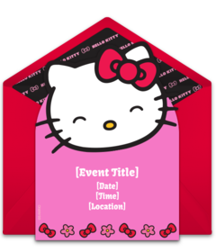 Online Invitations from  Hello kitty theme party Hello