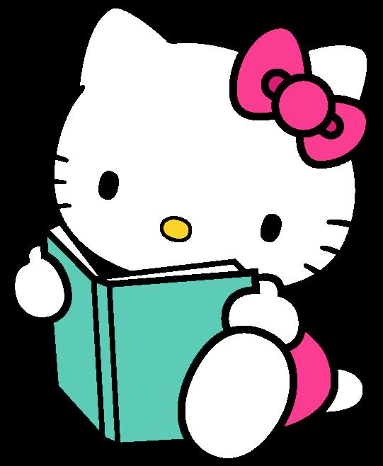 Hello Kitty School Clipart  Hello Kitty Reading Book