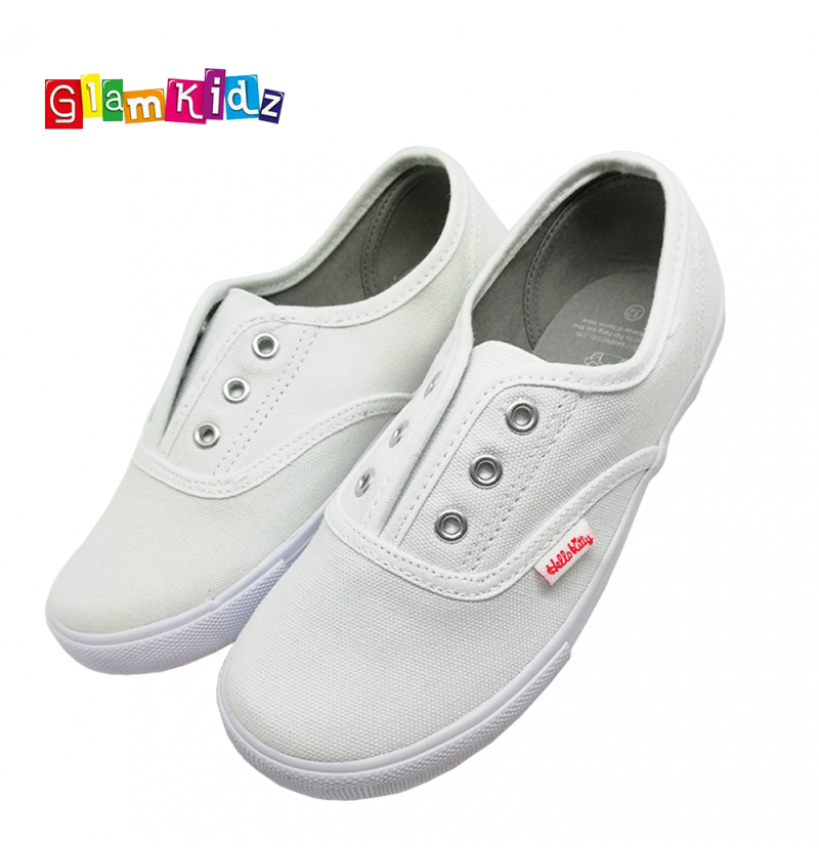Hello Kitty Slip On White School Shoes 31148 32  New PGMall