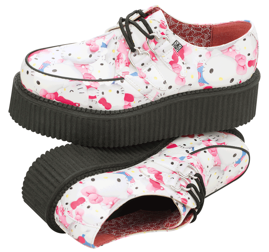 Shoes of the Day  Hello Kitty X TUK Footwear Creepers