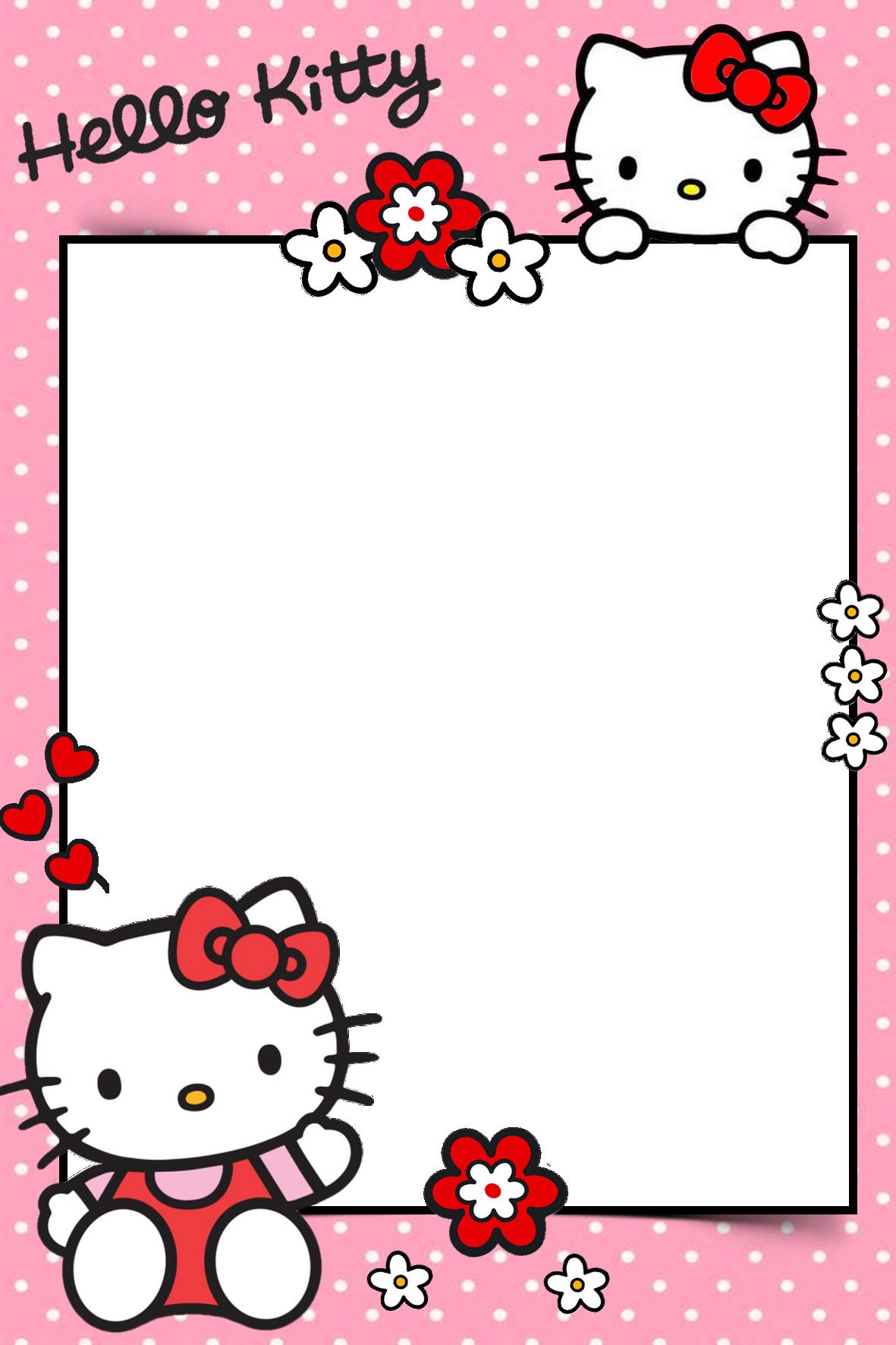Frame for children PNG  Hello kitty invitations Hello
