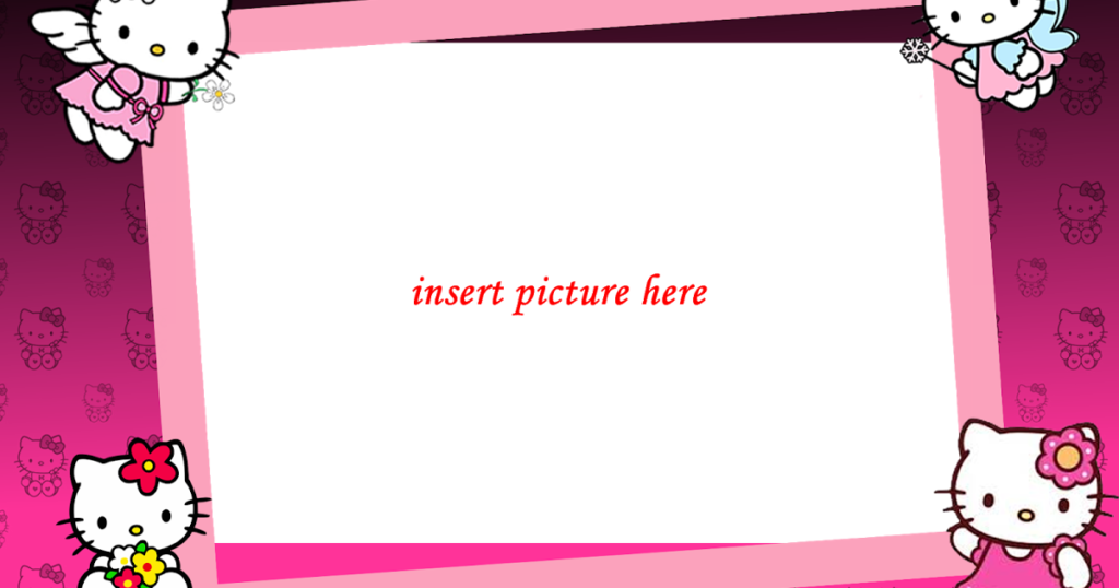 Hello Kitty PNG Frame04  Hello kitty Frame download Hello