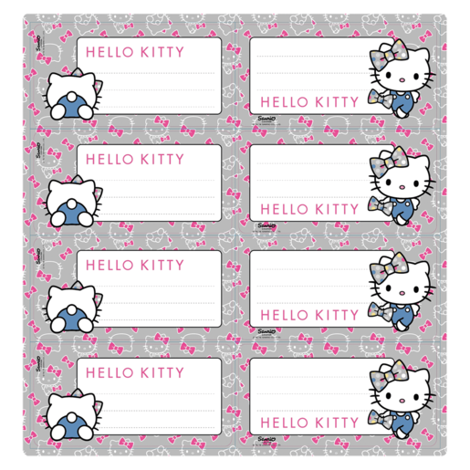 Hello Kitty Assorted Book Labels 16 Piece  Books