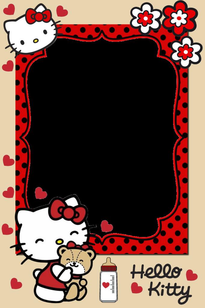Frame for children PNG in 2020  Kitty Hello kitty Frame