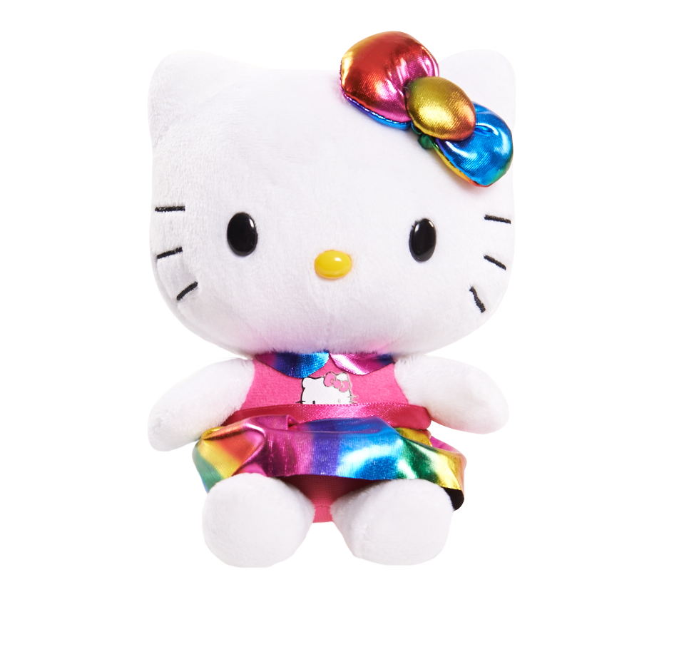 Hello Kitty 6 Small Plush  Rainbow  Toys  Games