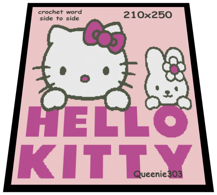 Hello Kitty 210×250  Hello kitty Kitty Red heart yarn
