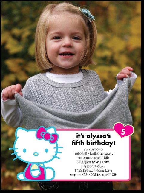 Hello Kitty Invites please a hello kitty bow on Amayas