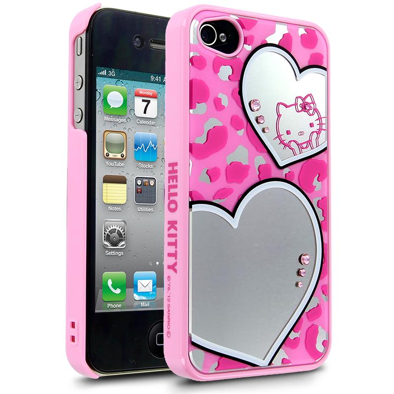 Hello Kitty Mirror Leopard Case for Apple iPhone 44S