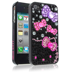 Hello Kitty iPhone 4 Case with Bows Rhinestone Case for