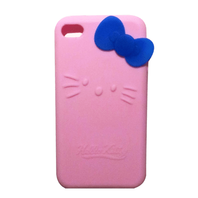 Hello Kitty iPhone 4 case with cute bowtie  iPhone 4  4S